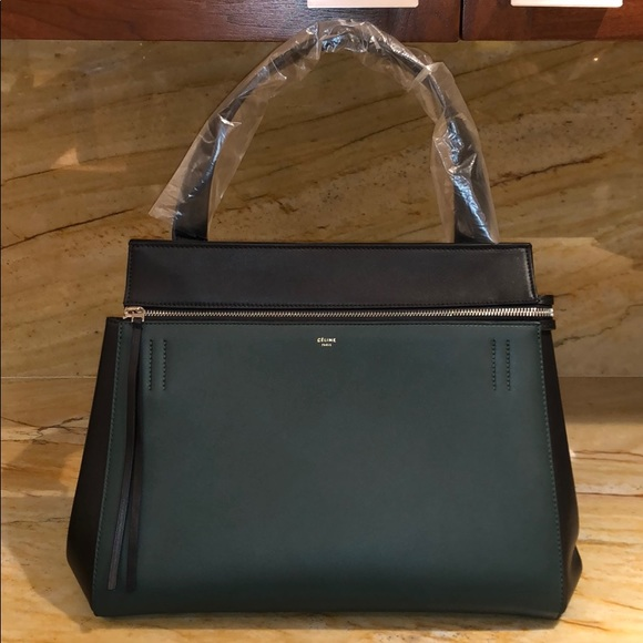 bfd3687d46 Céline Authentic Edge Bag in Black Forest Green